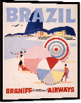 Impression sur aluminium Affiche illustration rétro vintage Brésil