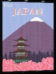Toiles imprimées Affiche illustration rétro vintage Japon