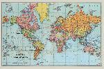 Affiche de la carte du monde (english)