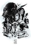 Poster film saga Star Wars 40th Anniversary (Montage)