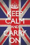 Affiche Keep Calm And Carry On (Union Jack)