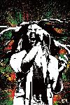 Poster bob Marley Paint splash