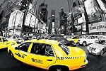 Poster taxi jaune à Times Square