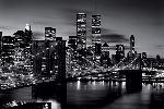 Poster noir & blanc du pont de Brooklyn à New York