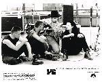 Photo en noir et blanc de u2 dans le film U2: Rattle and Hum