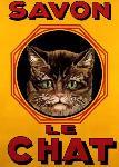 Affiche publicitaire du Savon Le Chat