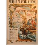 Affiche d'exposition Bordeaux 1895