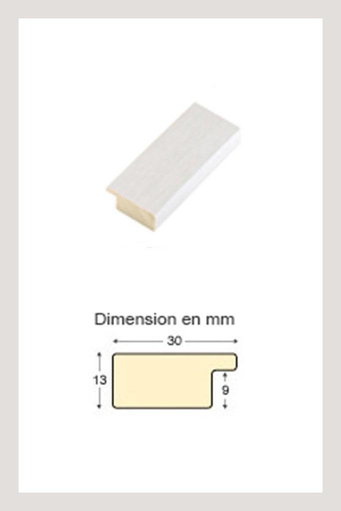 Cadre en bois blanc