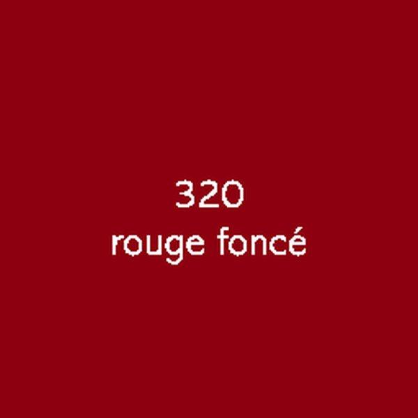 Sticker autocollant film polymère rouge foncé brillant