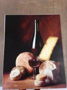 Poster de P. CABANNES et C. RYMAN Fromages et vin rouge