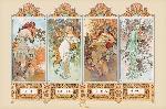 Poster Mucha (4 Seasons)