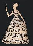 Affiche d'art de Lisa VINCENT Script Dress