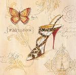 Affiche d'art de Angela STAEHLING Leopard sling stiletto
