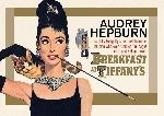 Cartes postales Audrey hepburn - breakfast at tiffany s (gold)