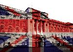 Cartes postales Buckingham palace (union jack)