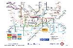 Cartes postales London underground - map