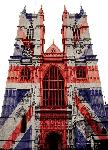 Cartes postales Westminster abbey (union jack)