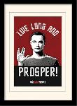Photos encadrées Big bang theory (live long & prosper)