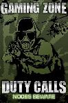 Affiche Gaming Zone (Duty Calls)