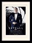 Photos encadrées James bond (skyfall one sheet - black)