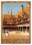 Poster ancien de Charles HALLO Les hospices de Beaune