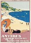 Poster ancien de Roger BRODERS Antibes