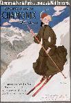 Affiche ancienne de Abel FAIVRE Sports d'hiver Chamonix