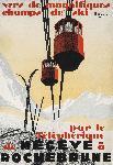 Affiche ancienne de Pierre MICHAUD Mégève