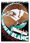Affiche ancienne de Roger BORDERS Tour du Mont-Blanc