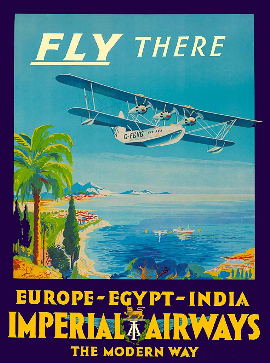 affiche ancienne imperial airways acheter affiche ancienne imperial airways 1718 affiches. Black Bedroom Furniture Sets. Home Design Ideas