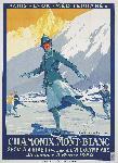 Affiche ancienne de Roger SOUBIE Chamonix Mont-Blanc