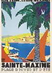 Affiche vintage de Roger BRODERS Sainte Maxime