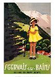 Affiche vintage de Tory Saint Gervais les Bains et le Fayet