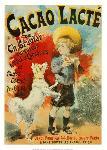 Affiche vintage de Lucien LEFEVRE Cacao lacté