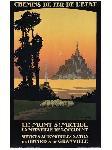 Affiche vintage de Constant LEON DUVAL Le Mont Saint Michel