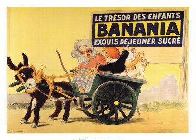 Connu Affiche ancienne de Georges MEUNIER Banania le trésor des enfant  GP37