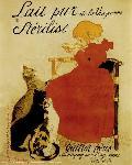 Affiche ancienne de Théophile Alexandre STEINLEN Lait Nestlé