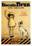 Affiche ancienne de Georges REDON Biscuits Brun