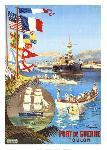 Affiche ancienne de Hugo D'ALESI Port de guerre