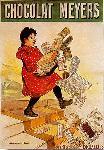 Affiche vintage de Firmin Etienne BOUISSET Chocolat Meyers