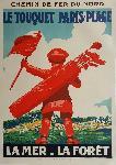 Affiche ancienne de COURCHINOUX Le Touquet Paris-Plage