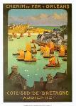 Affiche vintage de Charles HALLO Chemin de fer d'Orléans
