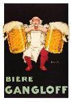 Affiche vintage de Jean D'YLEN Bière Gangloff
