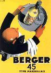 Affiche vintage de Roland ANSIEAU Berger 45 vintage