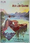 Affiche ancienne de Hugo D'ALESI Aix-les-Bains