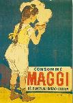 Affiche vintage de Firmin Etienne BOUISSET Consommé Maggi