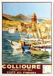 Affiche ancienne de CHAMPSEIX Collioure