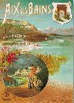 Affiche vintage de Hugo D'ALESI Aix-les-Bains