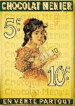 Affiche ancienne de ROEDEL Chocolat Menier