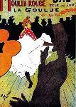 Affiche publicitaire de TOULOUSE LAUTREC Moulin Rouge La Goulue